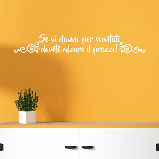 stickers murali con frase divertente scritta adesiva