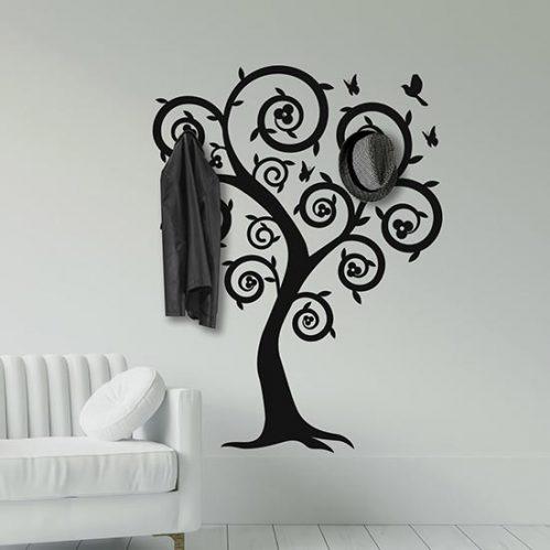 Adesivi da muro appendiabiti albero