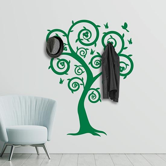 Adesivi da muro appendiabiti albero decorazione adesiva