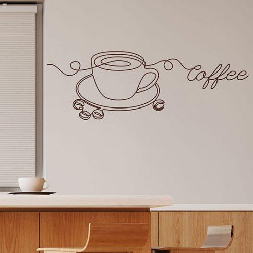 Adesivi da parete per bar caffetteria
