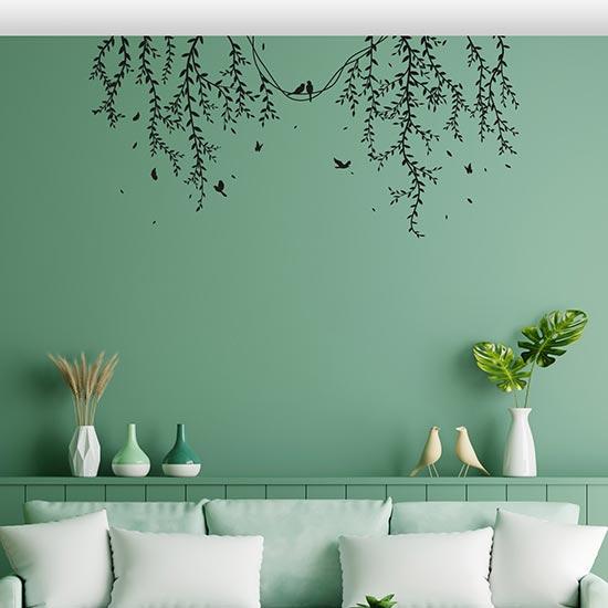 Decorazioni adesive floreali per muri