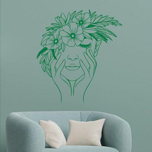 Disegno adesivo floreale da parete