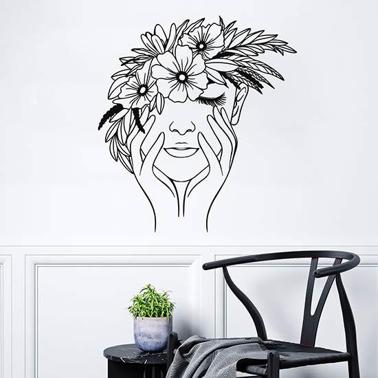 Disegno adesivo floreale