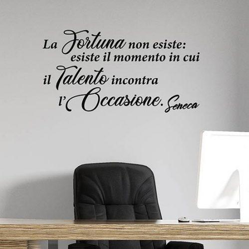 Frase adesiva da muro di Seneca