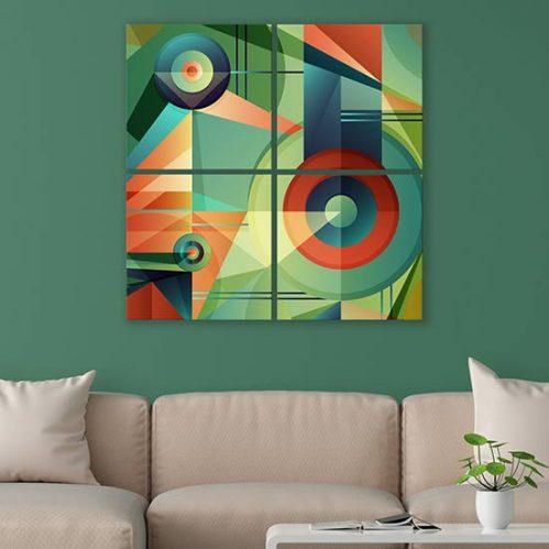 Quadri colorati astratti su tela decorazioni moderne