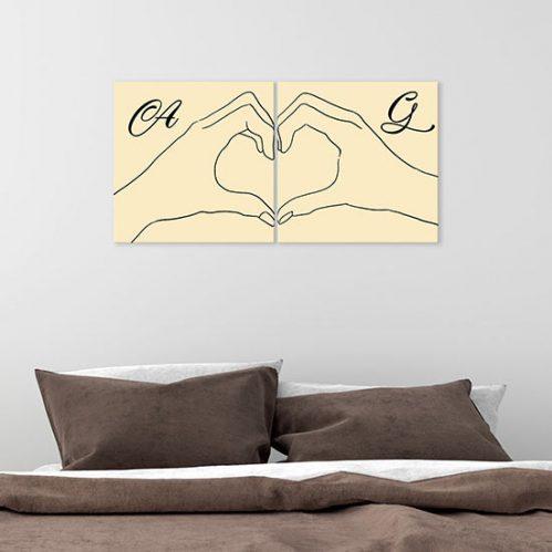 Quadri personalizzati stampati su tela per camera da letto