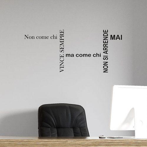 Stickers murali con frase motivazionale