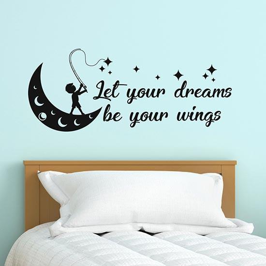 Stickers per muro con frase motivazionale adesivi murali