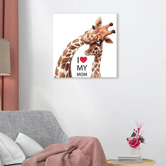 quadro su tela regalo per la mamma da appendere