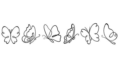6 farfalle adesive