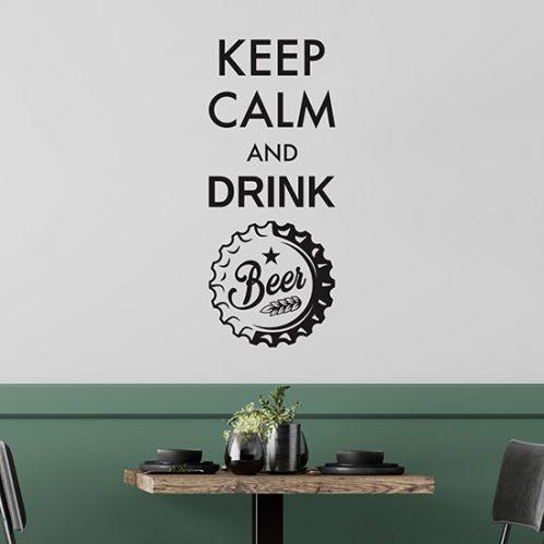 Adesivi per muro drink bar keep calm