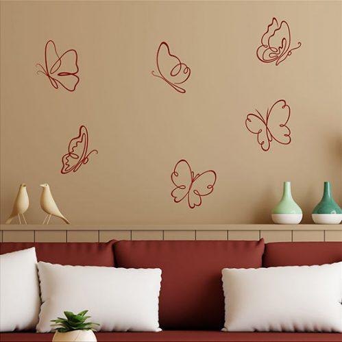 Adesivi per muro farfalle adesive
