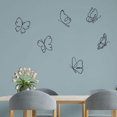 Adesivi per muro farfalle adesive decorazioni da parete