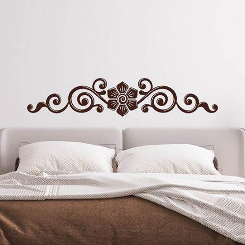 Capezzale adesivo murale per letto