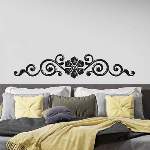 Capezzale adesivo murale per letto decorazione adesiva