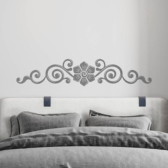 Capezzale adesivo murale per letto decorazione