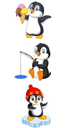 Disposizione degli adesivi murali pinguini per bambini