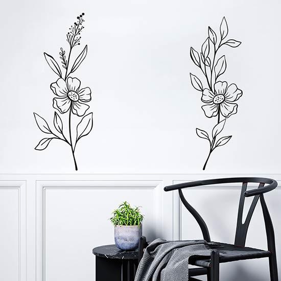 Fiori adesivi per muro decorazioni floreali