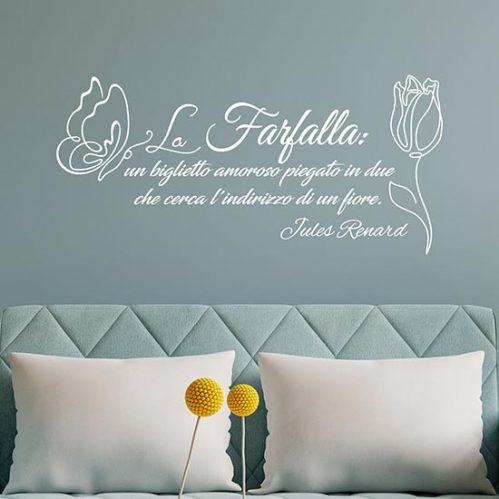 Frase adesiva da muro farfalla adesivi murali