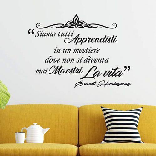 Frase adesiva da parete di Hemingway