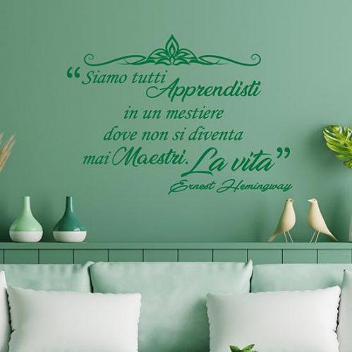 Frase adesiva da parete di Hemingway adesivi murali