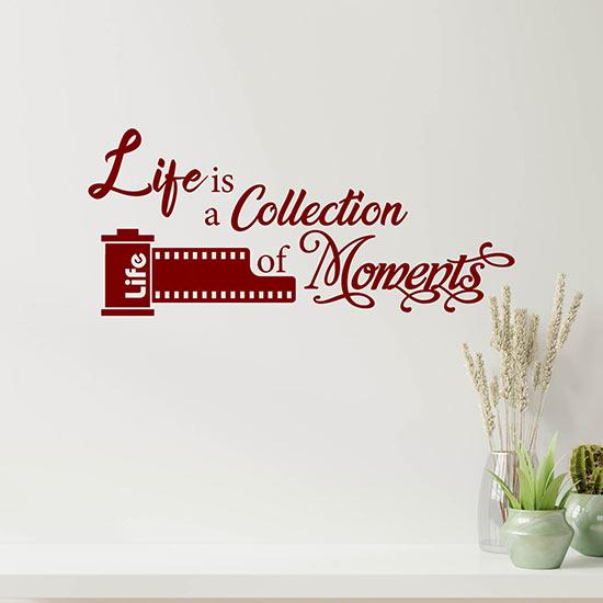 Frase adesiva da parete life decorazione murale