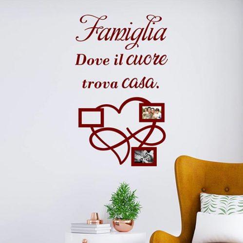 Frasi sulla famiglia adesivi murali con cornici foto