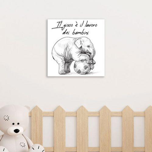 Quadretti con scritte su tela per bambini pronti da appendere