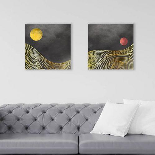 Quadri su tela paesaggi astratti stampe moderne