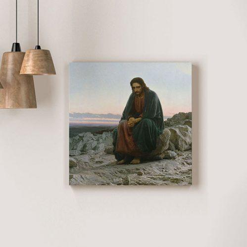 Quadro Cristo nel deserto di Kramskoj