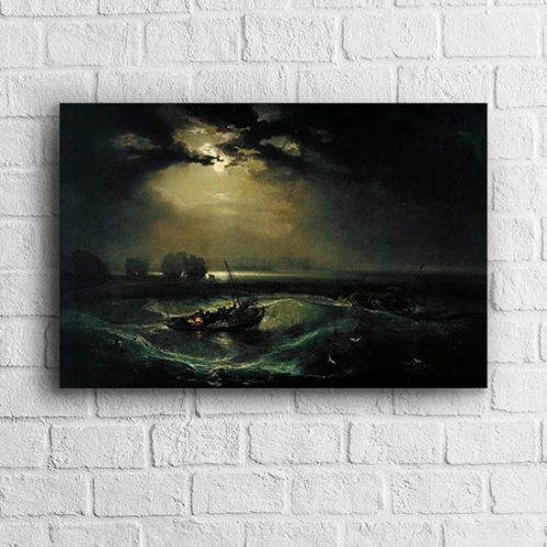 Quadro di William Turner pescatori in mare
