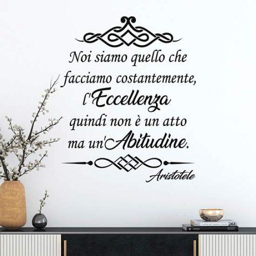 Stickers murali con frase di Aristotele