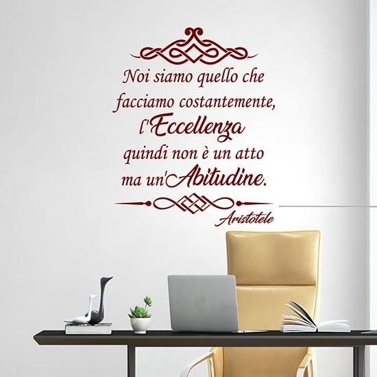 Stickers murali con frase di Aristotele decorazione da parete