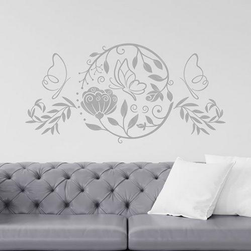Decorazioni adesive stilizzate da parete