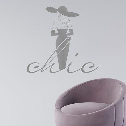 Disegno adesivo da muro fashion chic