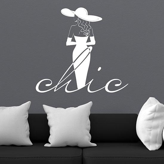 Disegno adesivo da muro fashion decorazione adesiva