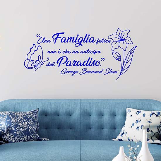 Frase adesiva da muro sulla famiglia adesivi murali