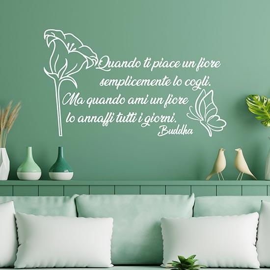 Frase adesiva sul fiore di Buddha adesivi murali