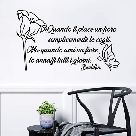 Frase adesiva sul fiore di Buddha stickers murali