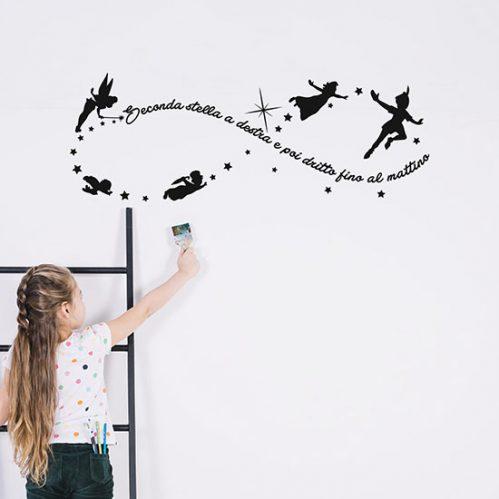 Peter Pan adesivi per bambini da parete