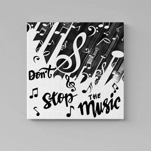Quadri moderni musica con scritte
