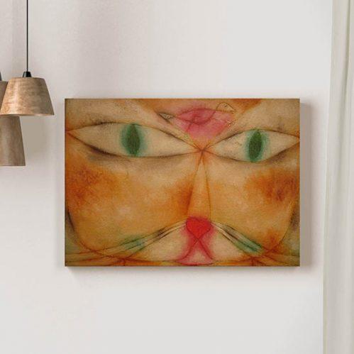 Quadro d'autore Cat and Bird di Paul Klee