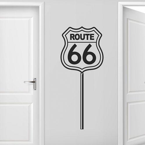 Route 66 adesivi murali