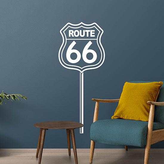 Route 66 adesivi murali decorazioni da parete