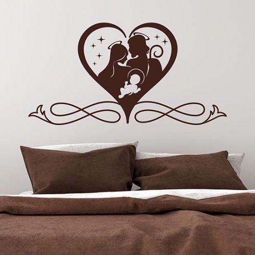 Stickers murali capezzali moderni per letto