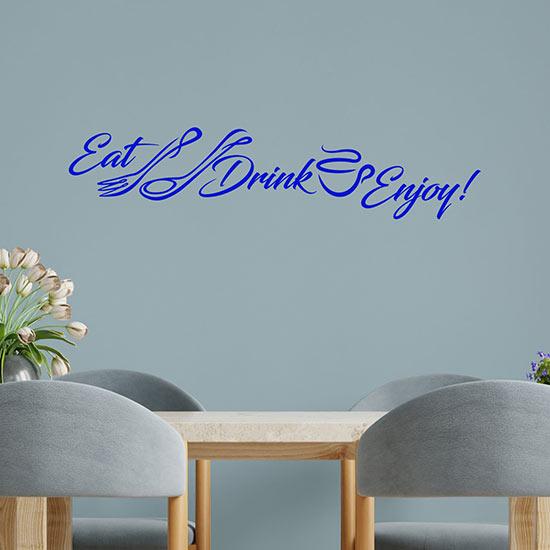 adesivi eat drink enjoy per le pareti della cucina