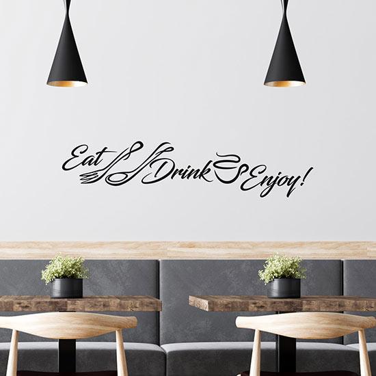Adesivi eat drink enjoy